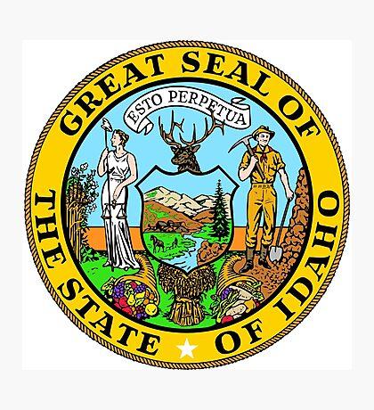 Idaho seal Photographic Print