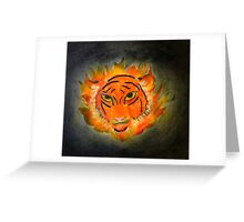 A Face in the Flames Greeting Card