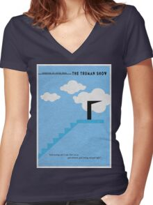 The Truman Show Women's Fitted V-Neck T-Shirt