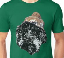 Cockapoo in a winter hat (Green) Unisex T-Shirt
