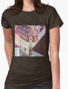 Walking in Tallinn City Center Womens Fitted T-Shirt
