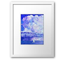 Watercolor motivational art - If your dreams don't scare you they are not big enough Framed Print