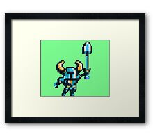 Shovel knight by triangles Framed Print