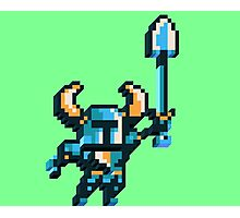 Shovel knight by triangles Photographic Print