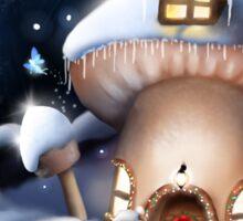 Christmas Fairy House Sticker