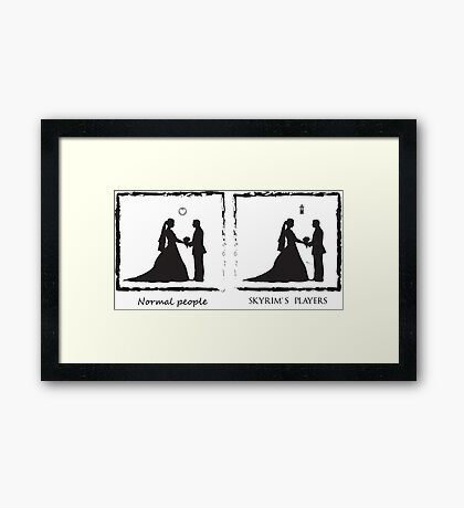 Just Married Framed Print