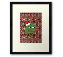 Christmas Pepe Framed Print