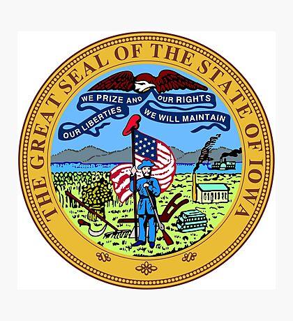 Iowa seal Photographic Print