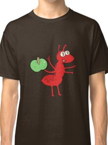 cartoon ant with apple Classic T-Shirt