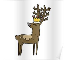 cartoon stag king Poster