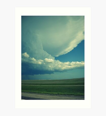 Tornado On Its Way. Art Print