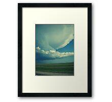 Tornado On Its Way. Framed Print