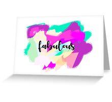tee-graphic fabulous Greeting Card