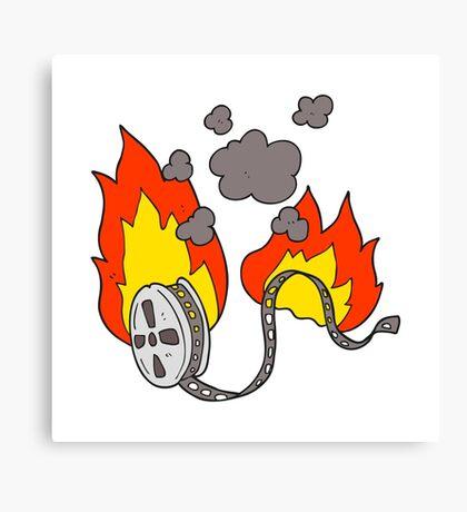 cartoon movie film burning Canvas Print