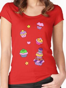 Cupcakes! Women's Fitted Scoop T-Shirt