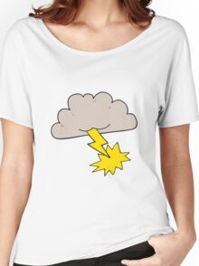 cartoon storm cloud Women's Relaxed Fit T-Shirt