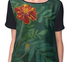Flowers Tagetes Chiffon Top