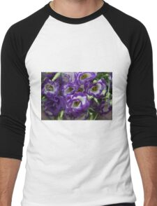 Eustoma PURPLE WHITE  Men's Baseball ¾ T-Shirt