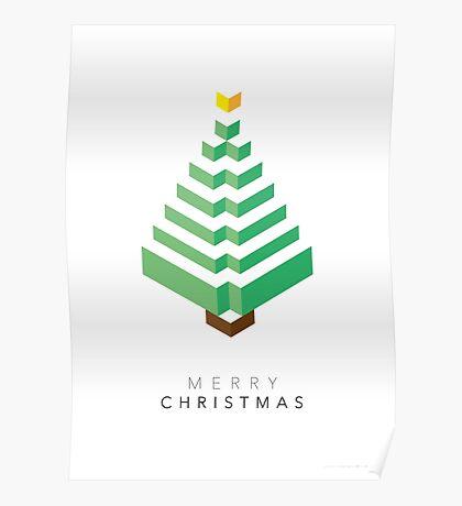 Minimalistic Christmas Tree (Card) Poster