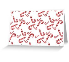 Candy cane pattern Greeting Card