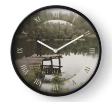 Human loneliness by the lake Clock