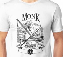 RPG Class Series: Monk - Black Version Unisex T-Shirt