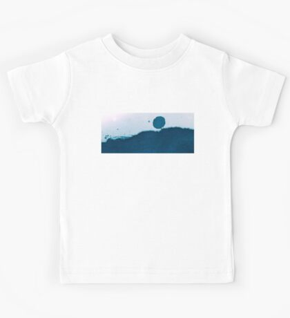 Cyanotype Abstract Landscape Kids Tee