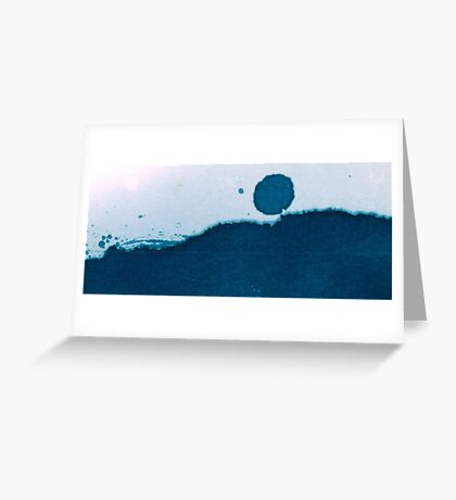 Cyanotype Abstract Landscape Greeting Card