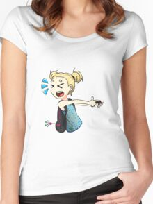 Gaming Chibi Women's Fitted Scoop T-Shirt
