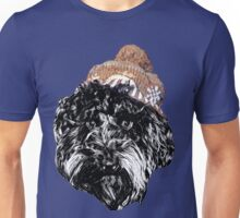 Cockapoo in a Winter Hat (Blue) Unisex T-Shirt