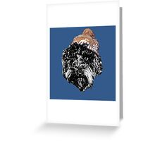 Cockapoo in a Winter Hat (Blue) Greeting Card