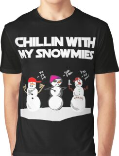 Cute Chillin With My Snowmies Shirts- Ugly Christmas Sweater Graphic T-Shirt