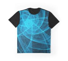 Abstract Tulles Star Computer Art in Blue Graphic T-Shirt