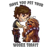 Have You Pet Your Wookie Today? Photographic Print