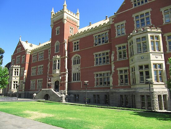 Brookman Building built 1889, Uni S.A. North Terrace, Adelaide.S.A. by Rita Blom