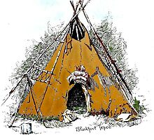 Indian Summer TeePee by Kenneth Hoffman
