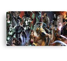 Marvel Super heroes/villains Canvas Print