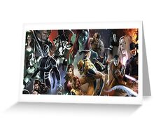 Marvel Super heroes/villains Greeting Card