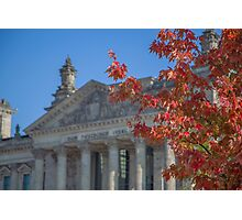 Autumn Reichstag Photographic Print