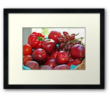 Fifty Shades of Red - Tote Framed Print
