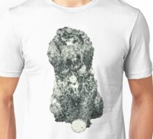 Cockapoo with a ball (white) Unisex T-Shirt