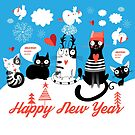 New funny cats pattern by Tanor