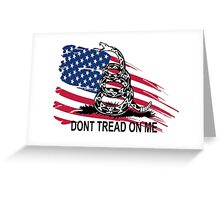 Gadsden Flag Don't Tread On Me Shirt, Cases, Stickers, Pillow, Posters, Cards Greeting Card
