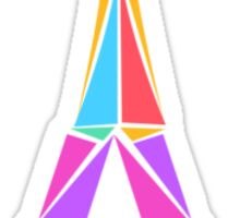 Abstract Geometric Eiffel Tower Sticker