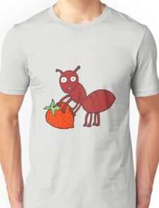 cartoon ant with berry Unisex T-Shirt