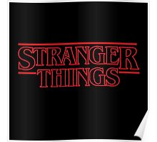 Stranger Things Classic Title  Poster
