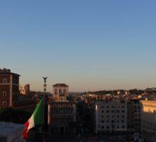 Sunset in Roma Sticker