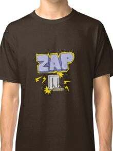 cartoon electrical switch zapping Classic T-Shirt