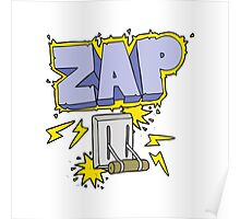 cartoon electrical switch zapping Poster