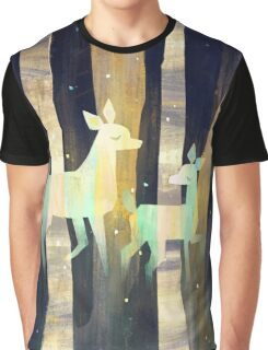 Ghost Deer Graphic T-Shirt